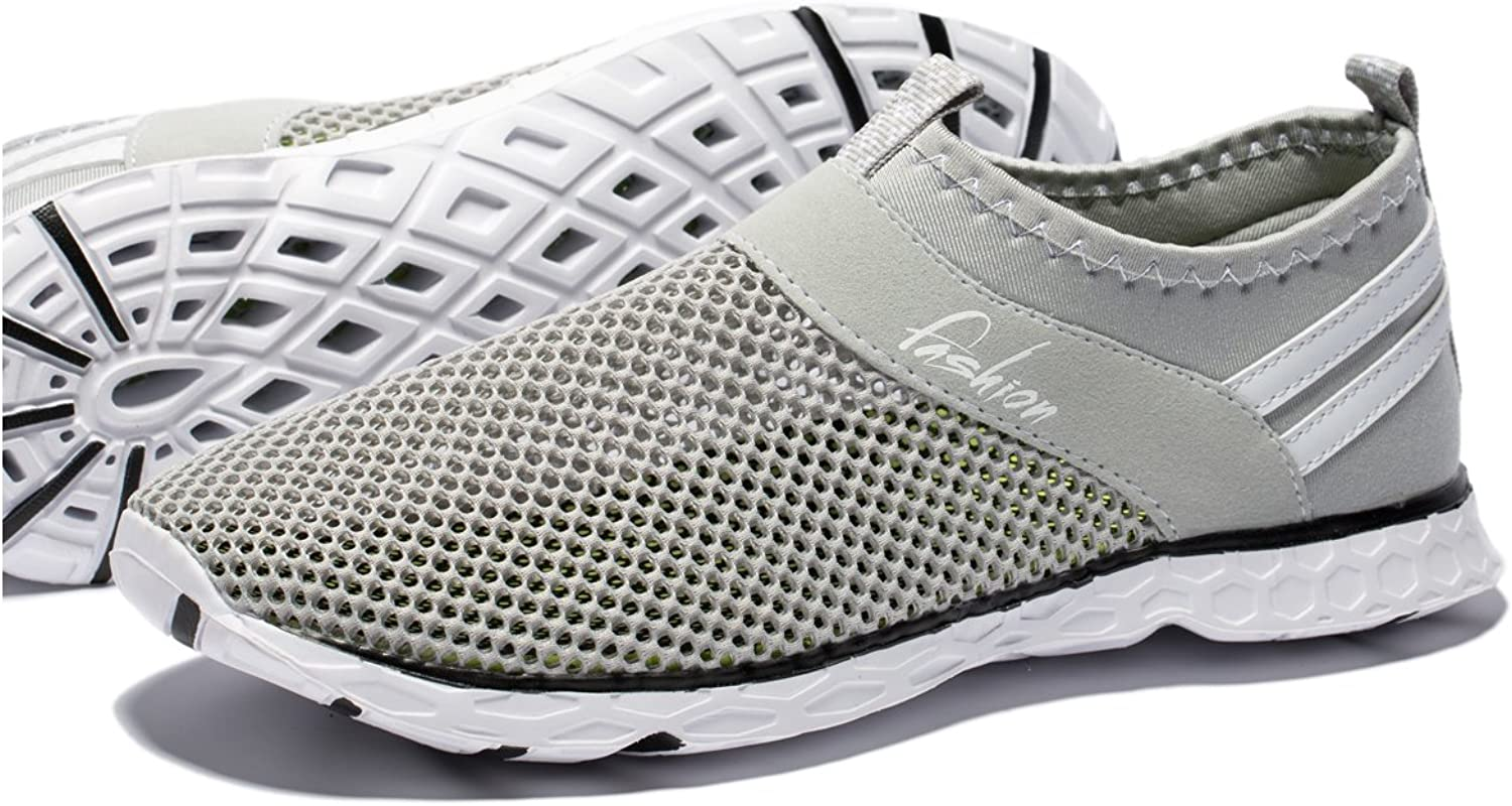 SANLION Men's Quick Drying Athletic Water shoes Lightweight Slip-on Aqua shoes