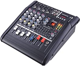Family Party or Small Stage Performances with 4 Channel Professional Powered Mixer Power Mixing Amplifier with USB Slot Amp 16DSP