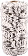 Jcevium 3 mm x 200 m natuurlijke handgemaakte katoenen koord macramé garen touw DIY muur cover plant op? lange ambachtelij...