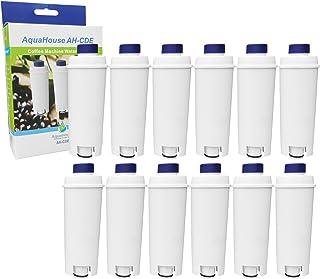 AH-CDE Lot de 12Cartouche de filtre à eau DLSC002/SER3017, compatible avec les machines à café et expresso DeLonghi C800...