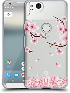 Head Case Designs 繝√ぉ繝ェ繝シ繝悶Ο繝・し繝 繝悶Ο繝・し繝・・Μ繝シ繝・Google Pixel 2 蟆ら畑繧ス繝輔ヨ繧ク繧ァ繝ォ繧ア繝シ繧ケ