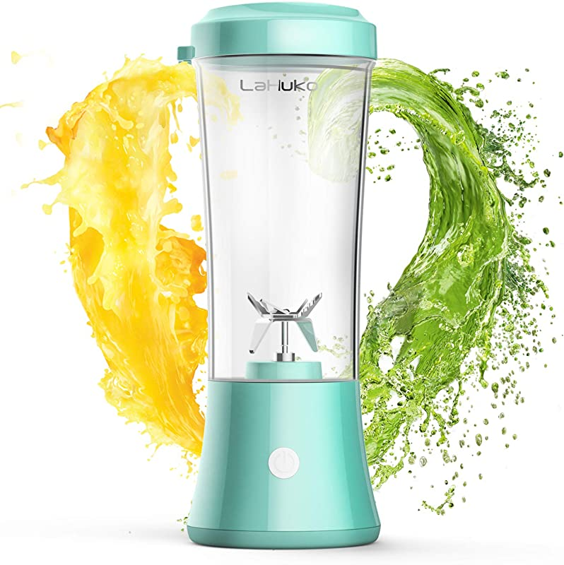 LaHuko Portable Blender Personal Size Blender Juicer Cup For Juice Crushed Ice Smoothie Shake Two Rotating Speed USB Rechargeable Waterproof Blender For Outdoor Picnic Travel Gym BPA Free Material