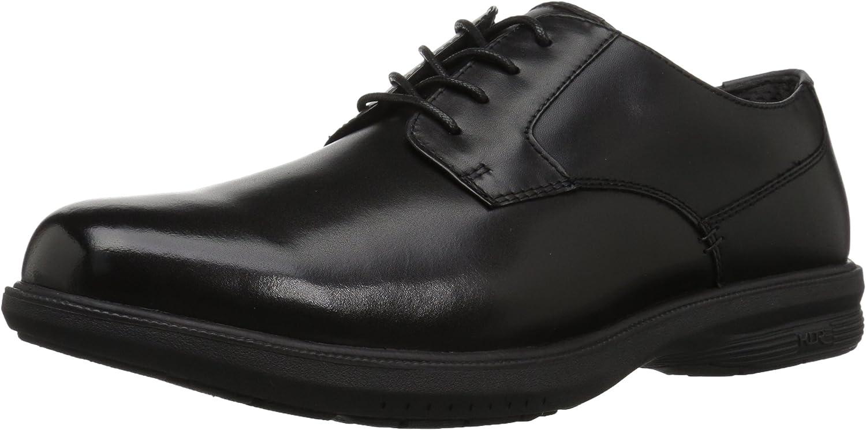 Nunn Bush Men's Messina Plain Toe Oxford with KORE Comfort Technology, Black, 11 M US