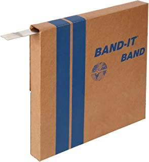 100 Foot Roll 5//8 Wide x 0.020 Thick 200//300 Stainless Steel BAND-IT VALU-Strap Plus Band C17199