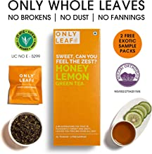 Onlyleaf Honey Lemon Green Tea, 27 Tea Bags (25 Tea Bags + 2 Free Exotic Samples)
