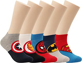 Super Hero Movie Character Low Cut Ankle No Show Socks For Sneakers Men Women 4-6 Pairs