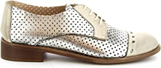 LEONARDO SHOES Luxury Fashion Womens 4641ROKSILVER Silver Lace-Up Shoes | Spring Summer 19
