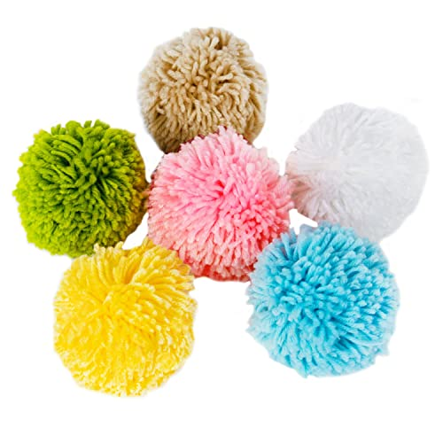 LaRibbons 10cm Woolen Fluff Ball Pom-Pom for Craft Making DIY Creative  Decoration 6- 3cff6b48ec