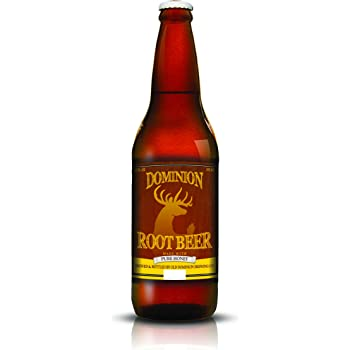 Old Dominion Root Beer, Non-Alcoholic Soda, Caffeine Free, Sweetened with Pure Honey, 12 x 355ml Bottles
