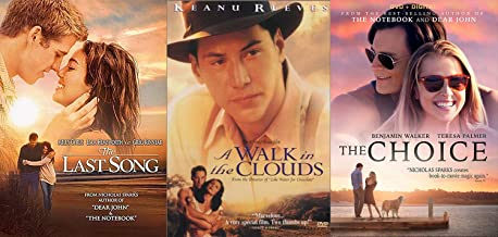 First Meet Romance Classics Nicholas Sparks The Last Song & The Choice + A Walk in The Clouds 3-DVD Love Bundle