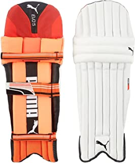 Puma, Cricket, Evo 5 Batting Pad, Fiery Coral/White, Medium
