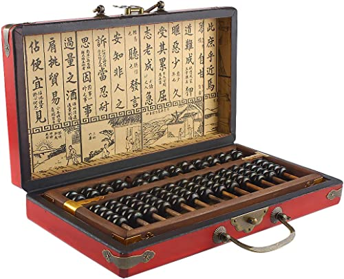 new arrival Larcele 13 Column Classic Wooden Abacus with outlet online sale Vintage Leather Box, Soroban for Study Decoration or Gift, Aging online Treatment SP-04 outlet sale