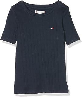 Tommy Hilfiger Solid Wide Rib S/S Tee T-Shirt Bébé Fille