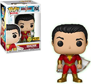 Funko Shazam [Glow-in-Dark] (Hot Topic Exclusive): Shazam! x POP! Heroes Vinyl Figure & 1 POP! Compatible PET Plastic Graphical Protector Bundle [#260 / 36806 - B]