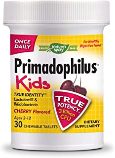 Nature's Way Primadophilus® Kids 3 Billion CFU, 30 Cherry Flavored Chews (Ages 2-12, Refrigerate to maintain maximum potency)