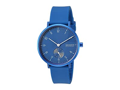Skagen Aaren Kulor 36mm Three-Hand Silicone Watch (SKW2817 Blue Silicone) Watches