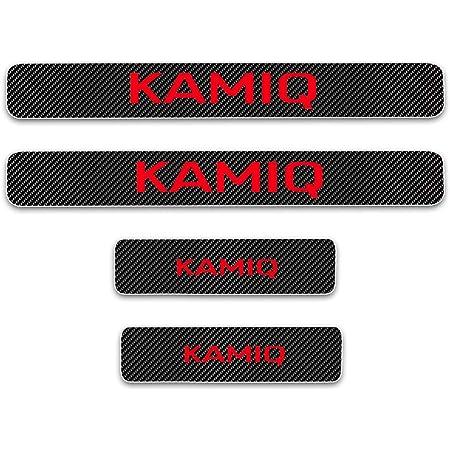 4-pieces Avisa 2//19024 Black Stainless Steel Door sill protectors suitable for Skoda Kamiq 2019 Special Edition