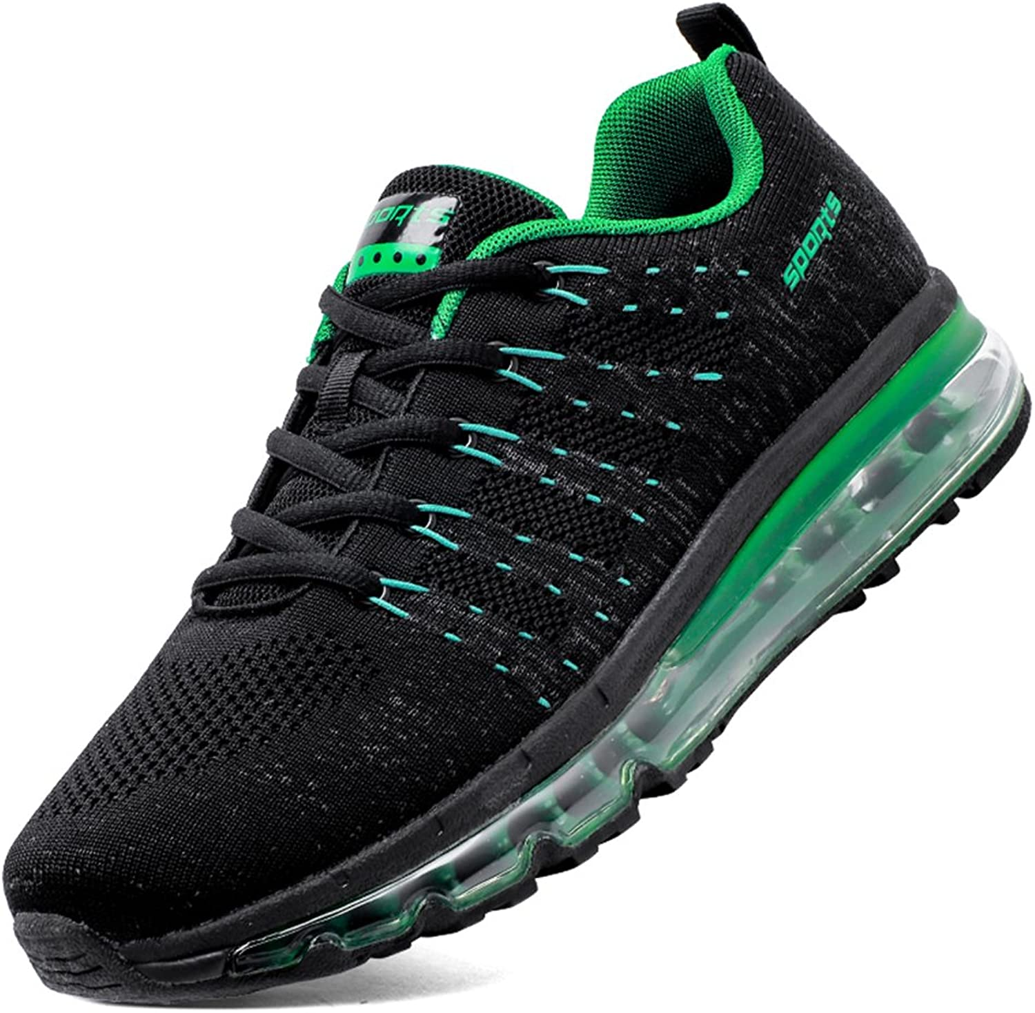 SKDOIUL Men Tennis shoes Size 12 for Flyknit Fashion Sneakers Breathable Comfort air Cushion Youth Boys Running shoes Gym Workout Trail Sneaker Size 12 (8067 Green 46)