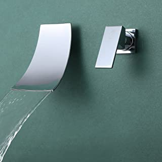 科士力 入墙面盆水龙头 冷热全铜 暗装水龙头 入墙瀑布水龙头 L3200