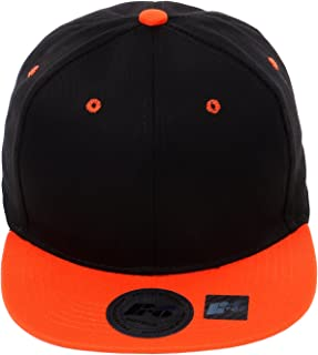 Snapback Cap, Blank Hat Flat Visor Baseball Adjustable Caps (One Size)
