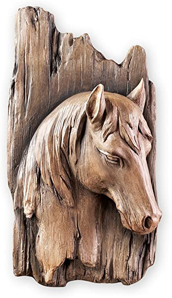 Collections Etc Rustic 3 Dimensional Horse Faux Wood Wall Art Decor