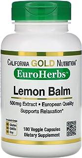 California Gold Nutrition Lemon Balm Extract, European Qualtity, 500 mg, 180 Veggie Caps