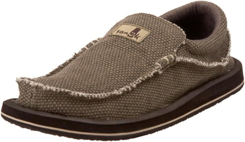 Sanuk Men's Chiba Big & Tall Loafers & Oxy Shoe Cleaner Bundle
