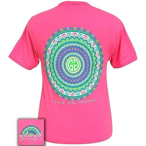 76767e7e Girlie Girl Mandala Logo Pink Short Sleeve T-Shirt