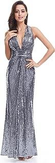 long grey sequin dress