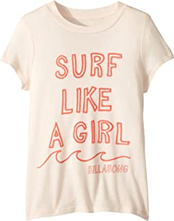 Surf Like a Girl T-Shirt (Little Kids/Big Kids)