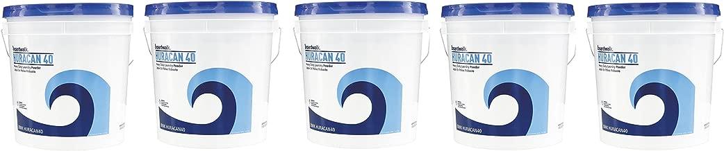 Boardwalk HURACAN40 Low Suds Laundry Detergent, Powder TGAUQs, 5 Pack (40lb.)