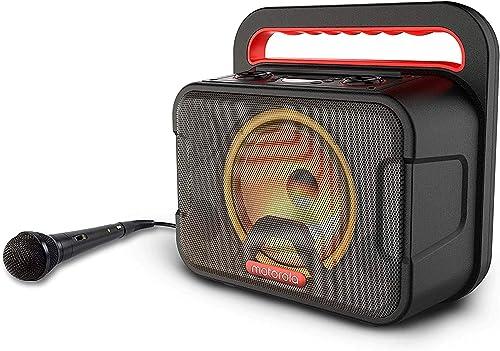 discount Motorola Sonic Maxx 810 Portable 40W Bluetooth Speaker, Powerful Wireless Karaoke Party Speaker IPX4 online sale Waterproof - LED Lighting sale System - Karaoke Microphone sale