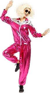 1980s Ladies Metallic Shell Suit Tracksuit Scouser Fancy Dress Costume
