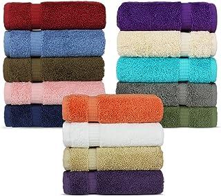 Luxury Hotel & Spa Towel 100% Genuine Turkish Cotton (Wash Cloth - Set of 12, Variety Pack)
