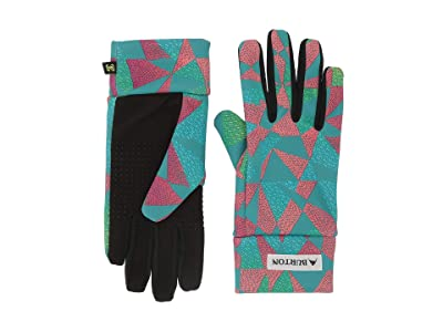 Burton Kids Touch N Go Liner (Little Kids/Big Kids) (Green/Blue Morse Geo) Liner Gloves