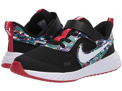 Nike Kids Revolution 5 Melted Crayon (Little Kid) (Black/White/Hyper Blue/Neptune Green) Kids Shoes