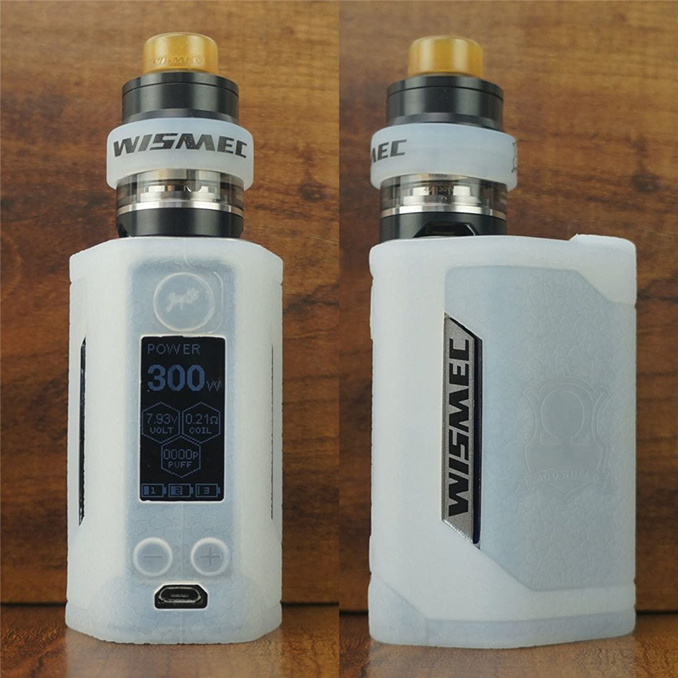 ModShield for Wismec Reuleaux RX GEN3 300W TC Silicone Case & Tank Band ByJojo GEN 3 Skin Cover Sleeve Shield (Clear Opaque)