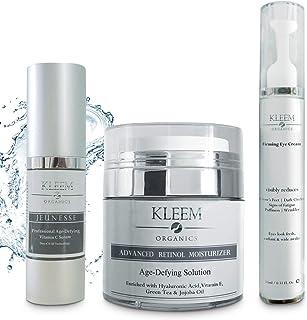 Anti Aging Skin Care Set: Retinol Cream, Vitamin C Serum & Firming Eye Cream for a glowing and radiant skin. The Best Beau...