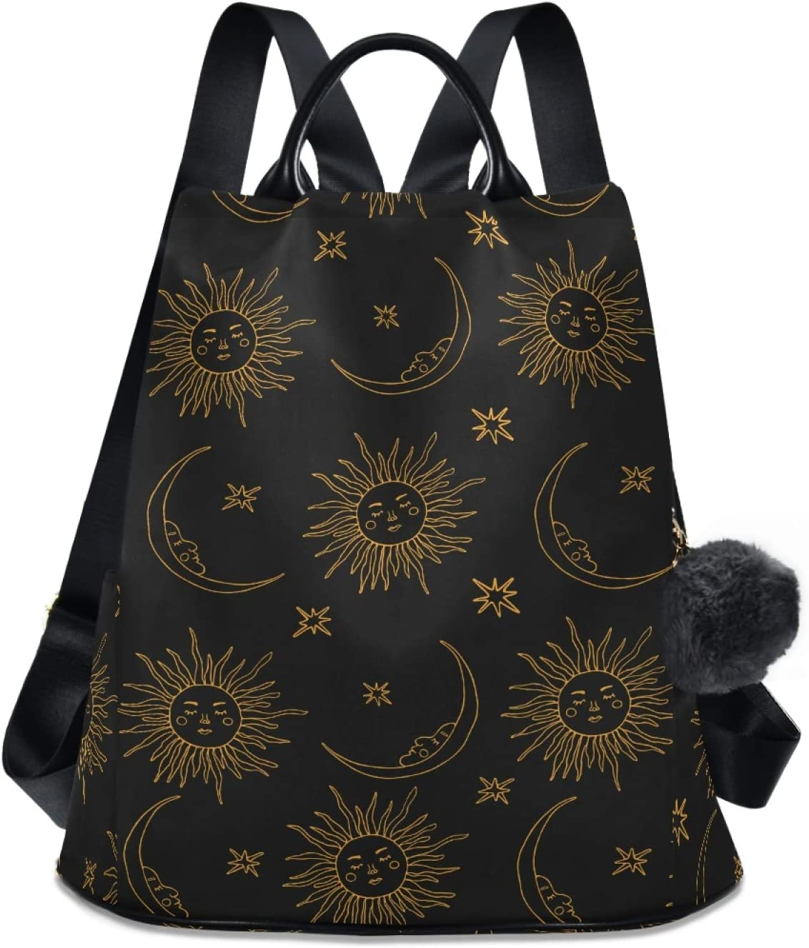 ALAZA 2021 model Boho Bohemian Sun Max 90% OFF Moon Backpack for Purse Anti Women Theft