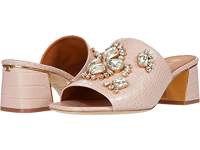 Tory Burch Martine 55 mm Slide (Pink Praline/Crystal Honey) Women