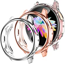 GEAK 3 Pack Case for Galaxy Watch Active 2 40mm,Soft Full Cover Screen Protector for Samsung Galaxy Active 2 Smartwatch 40...
