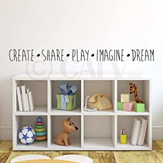 Create Share Play Imagine Dream Vinyl Lettering Wall Decal Sticker (4