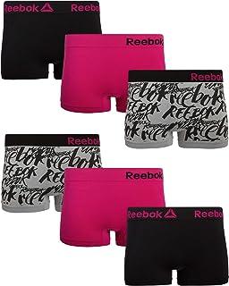 Reebok Women's Seamless Stretch Performance Boyshort Panties (6 Pack)