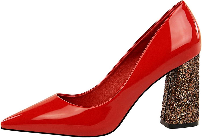 Chopstick Pumps Women Heels Party shoes Wedding shoes Women High Heels Thick Heel
