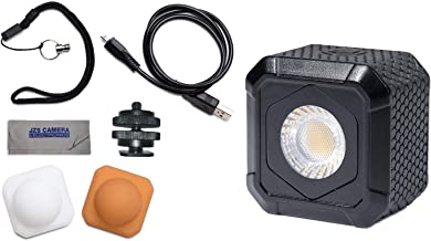 Lume Cube AIR Waterproof Compact LED Light for Photo, Video, GoPro, Smartphones + Metal Locking Foot & Cleaning Cloth Kit