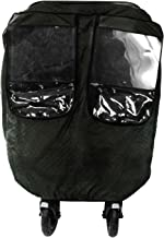 Comfy Baby Insulated Quilted Rain-cover Clear See-Thru Windows with Extra Sun Shade and Protection Net, Special Designed for the City Mini Double Stroller