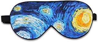 ALASKA BEAR Natural silk sleep mask & blindfold, super-smooth eye mask (One Strap, Starry Night)