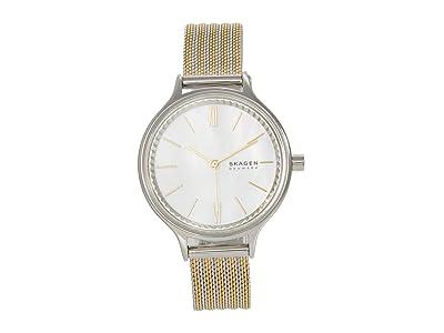 Skagen Anita Three-Hand Watch (SKW2908 Silver/White) Analog Watches
