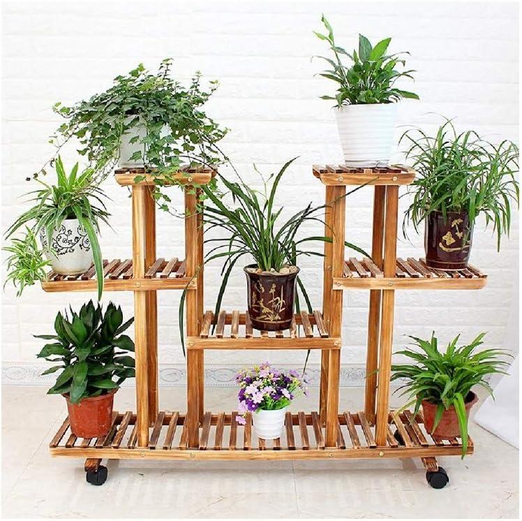 HUOQILIN Flower Shelf Living Room Basin Fold Japan Maker Recommended New Frame Balcony