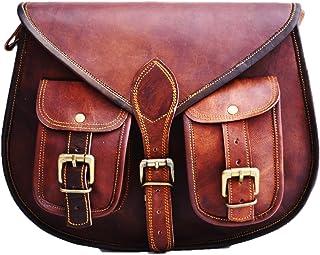 Satchel And Fable Damen Handtasche aus Leder